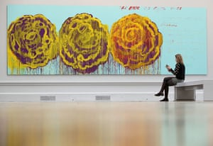 RA Summer Exhibition 2009: The Rose III by Cy Twombly at The Royal Academy