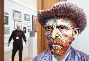 RA Summer Exhibition 2009: Van Gogh after self Portrait by John Dean at the Royal Academy of Arts