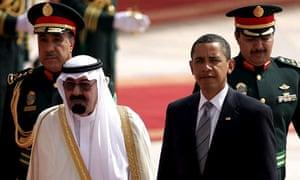 President Obama arrives at King Khalid international airport in Riyadh, Saudi Arabia