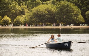 UK weather update: A couple row a boat in the sun on the Serpentine Lake in Hyde Park