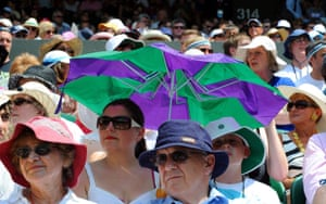 UK weather update: Spectators brave the heat on Centre Court during the Wimbledon