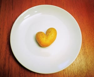 Wonky fruit and veg: Heart shaped potato