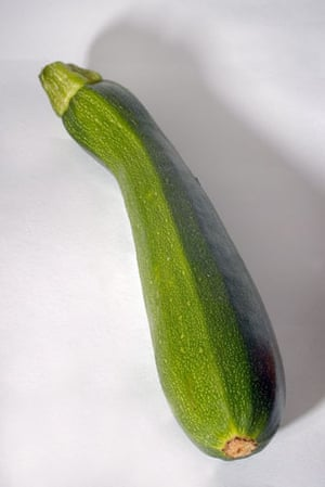 Wonky fruit and veg: A bendy courgette