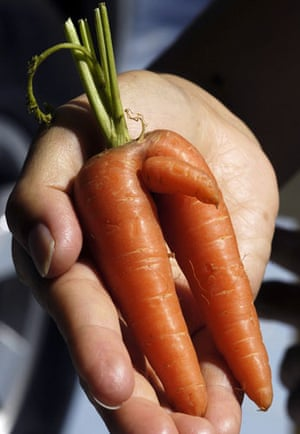 Wonky fruit and veg: A misshapen carrot