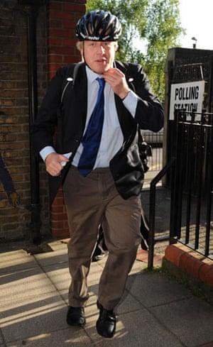 European elections: Boris Johnson casts his vote in London