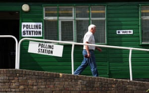 European elections: Voting at Woodhall Crescent, Hornchurch