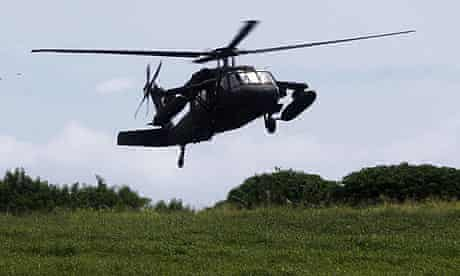 Black Hawk helicopter after Air France 447 search