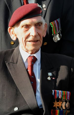 D-Day Memorial: Veteran Douglas Baines at the 65th Anniversary of D-Day landings