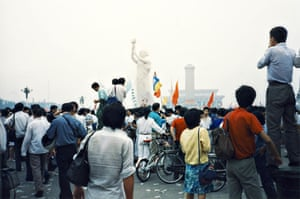 Tiananmen protests 1989: The Goddess of Democracy statue in Tiananmen Square, Beijing