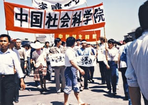 Tiananmen protests 1989: Protests on West Chang'an Avenue near Tiananmen Square