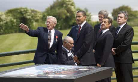 Obama, Harper, Sarkozy and Brown at D-Day anniversary