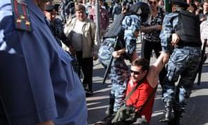 Politicial demo against Vladimir Putin, Moscow