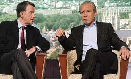 Peter Mandelson and Sir Alan Sugar on The Andrew Marr Show