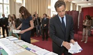 Nicolas Sarkozy and his wife Carla Bruni-Sarkozy