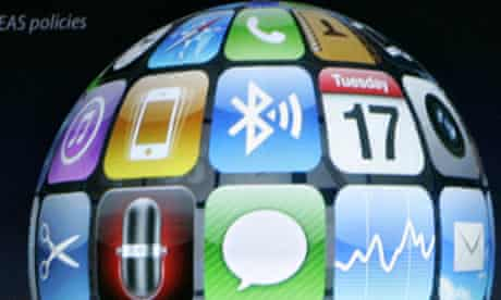 Apple Inc iPhone 3.0 OS software applications in Cupertino