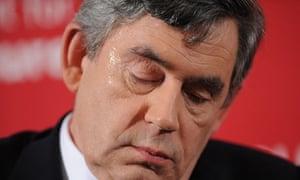 Gordon Brown meets Labour activists in East London