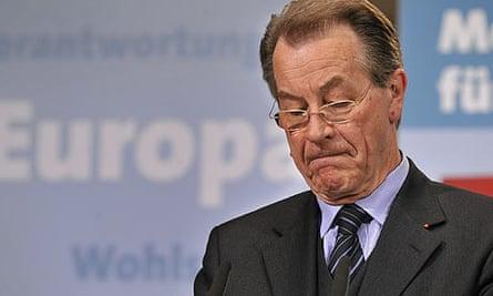 Franz Müntefering, chairman of Germany's Social Democrats