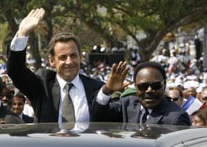 Omar Bongo obituary: President Omar Bongo and President Nicolas Sarkozy 2007