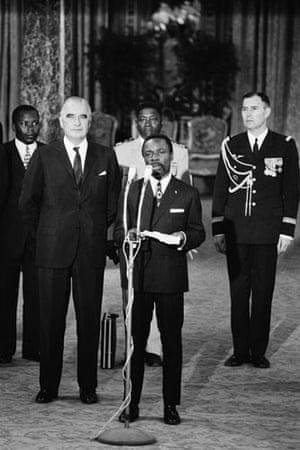 Omar Bongo obituary: President Omar Bongo, Visits the Elysee 1970
