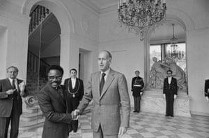 Omar Bongo obituary: Omar Bongo Meets Valery Giscard d'Estaing 1977
