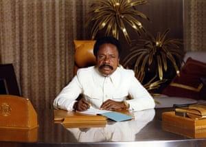 Omar Bongo obituary: President Omar Bongo at his office 1982