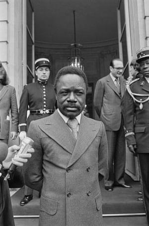 Omar Bongo obituary: Omar Bongo Visits Jacques Chirac 1976