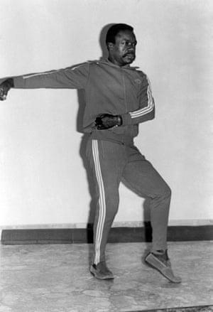 Omar Bongo obituary: President Omar Bongo practicing Thai chi 1970