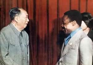 Omar Bongo obituary: President Omar Bongo meets Chinese leader Mao Tse-Tung in Beijing 1974