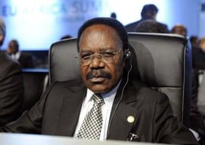 Omar Bongo obituary:  President Omar Bongo at European Union and Africa summit 2007