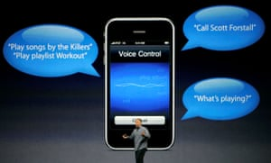 Apple conference: Philip Schiller speaks about the voice control features on the new iPhone