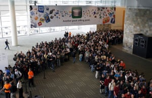 New iphone launch: Attendees line up Apple Worldwide Developers Conference