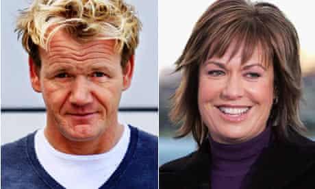 Gordon Ramsay and Tracey Grimshaw