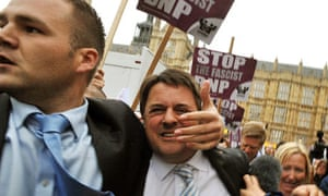 Nick Griffin in anti-BNP demonstration
