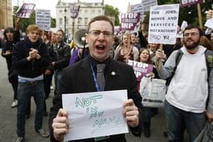 Nick Griffin: Protestors shout at BNP leader