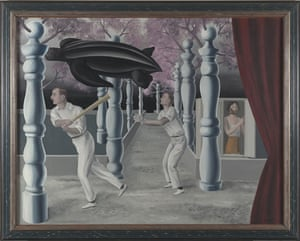 Musee Magritte Museum: The Secret Player, 1927, painting by Rene Magritte