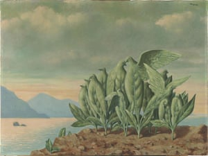 Musee Magritte Museum: Treasure Island, 1942, painting by Rene Magritte
