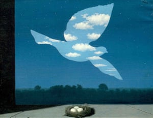 Musee Magritte Museum: The Return, 1940, painting by Rene Magritte
