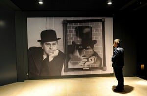 Musee Magritte Museum: A visitor at the Magritte museum in Brussels