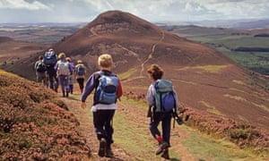 Melrose Scottish Borders Thomas Rhymer's hills walk