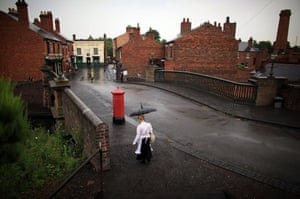 Heatwave: A tour guide braves a summer downpour at the Black Country Living Museum