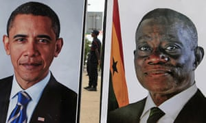 A security guard during Obama's Ghana visit