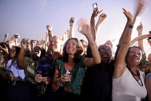 24hours in pictures: Supporters cheer for US President Barack Obama in Ghana