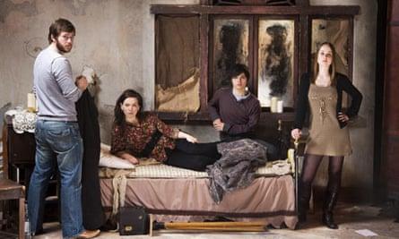 Actors at acting school in Glasgow