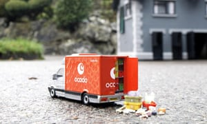 Ocado miniature van