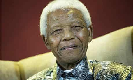 Nelson Mandela at the seventh annual Mandela lecture in Johannesburg