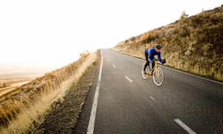 Hill climbing bike blog : Cyclist Coasting Downhill