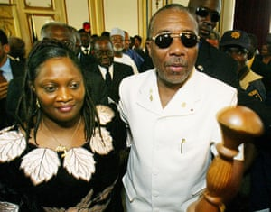 Charles Taylor: 2003: Liberian ex-President Charles Taylor, carrying his staff