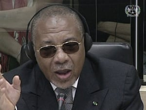 Charles Taylor: 2009: Former Liberian President Charles Taylor addresses the Special Court
