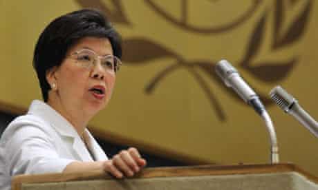 Margaret Chan, head of the World Health Organisation
