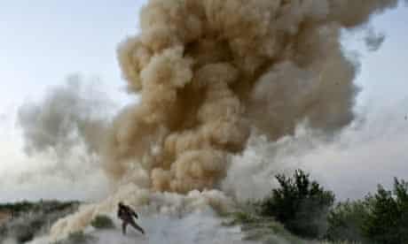 IED blast in Afganistan